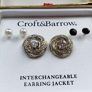 Croft & Barrow Interchangeable Earring Jacket